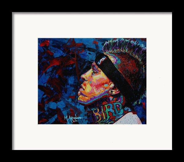 The Birdman Chris Andersen Framed Print By Maria Arango