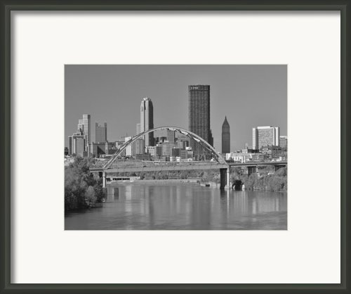 The Birmingham Bridge In Pittsburgh Framed Print By Digital Photographic Arts