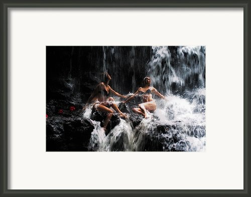 The Birth Of The Double Star. Anna At Eureka Waterfalls. Mauritius. Tnm Framed Print By Jenny Rainbow