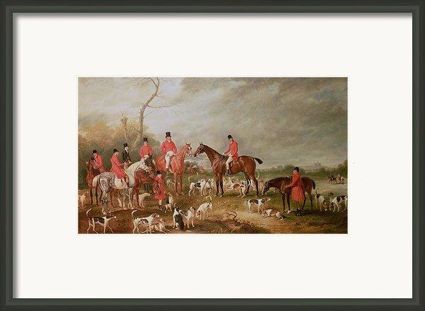 The Birton Hunt Framed Print By John E Ferneley