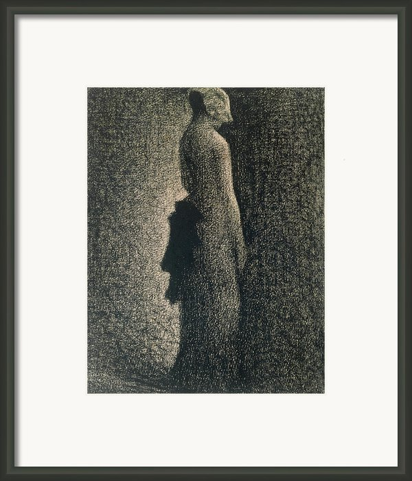 The Black Bow Framed Print By Georges Pierre Seurat