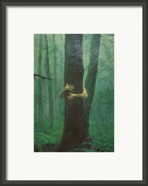 The Blue-green Forest Detail Framed Print By Derek Van Derven