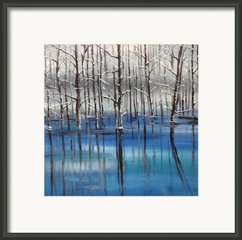 The Blue Pond Framed Print By Jessica Newell