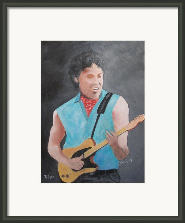 The Boss Framed Print By Rich Fotia