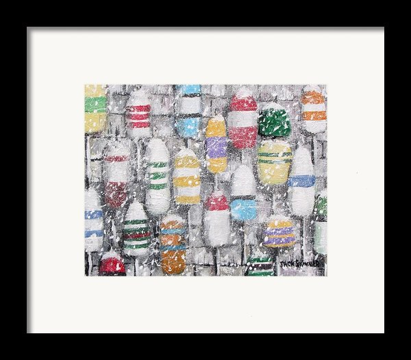 The Bouys Were Hung On The Shack With Care Framed Print By Jack Skinner