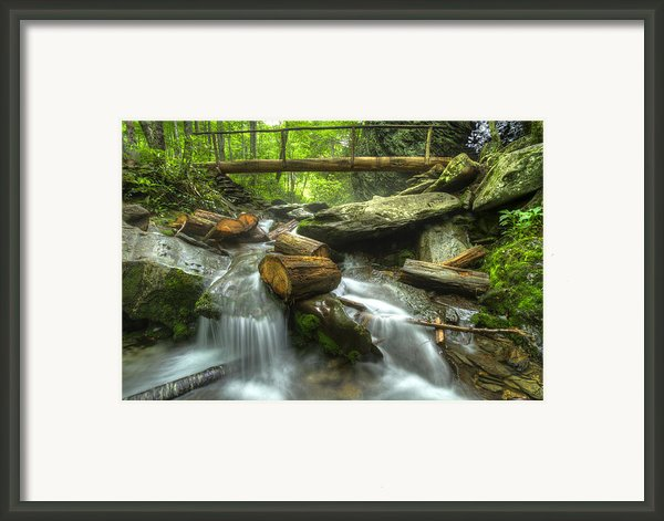 The Bridge At Alum Cave Framed Print By Debra And Dave Vanderlaan