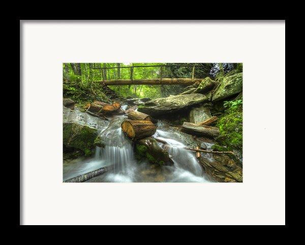 The Bridge At Alum Cave Framed Print By Debra And Dave Vanderlaan