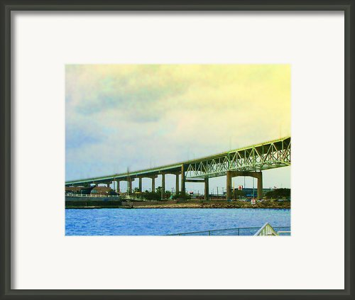 The Bridge Begins The Day Framed Print By Wendy J St Christopher