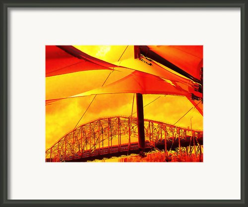 The Bridge On Mars Framed Print By Wendy J St Christopher