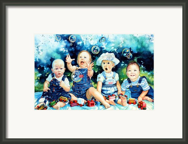 The Bubble Gang Framed Print By Hanne Lore Koehler