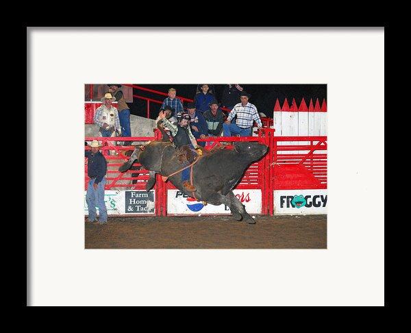 The Bull Rider Framed Print By Larry Van Valkenburgh