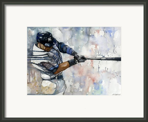 The Captain Derek Jeter Framed Print By Michael  Pattison