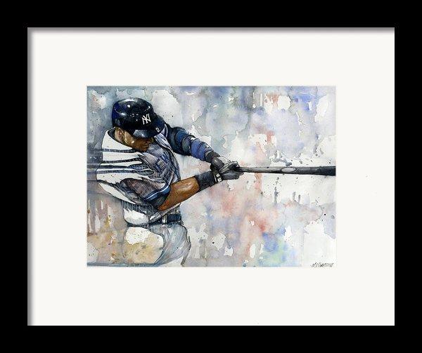 The Captain Derek Jeter Framed Print By Michael  Pattison