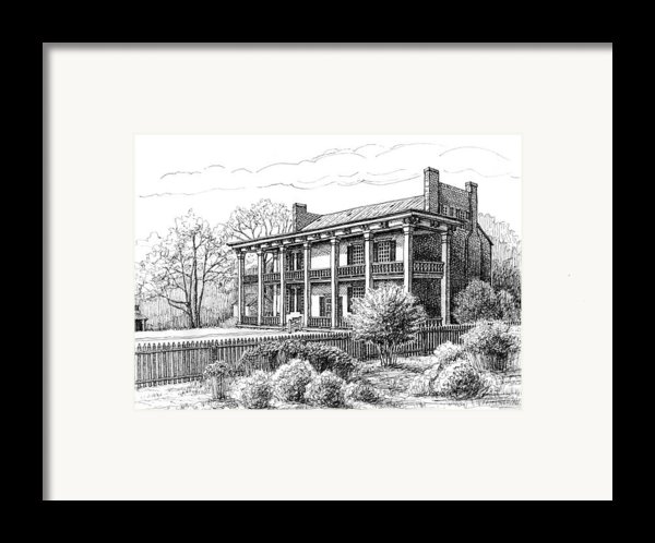 The Carnton Plantation In Franklin Tennessee Framed Print By Janet King