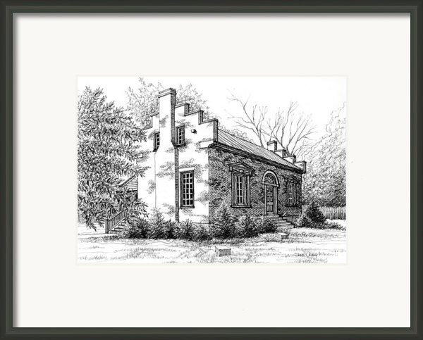 The Carter House In Franklin Tennessee Framed Print By Janet King