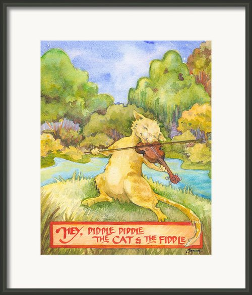 The Cat And The Fiddle Framed Print By Lora Serra