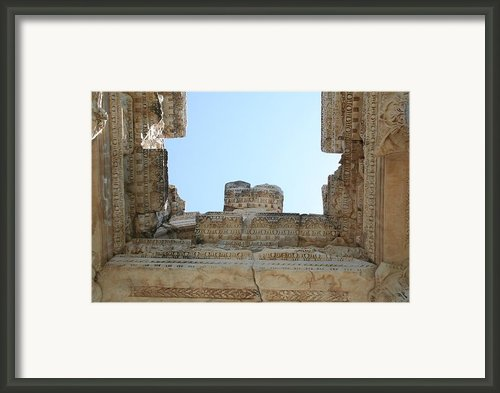 The Ceiling Of The Tetrapylon Aphrodisias Framed Print By Tracey Harrington-simpson