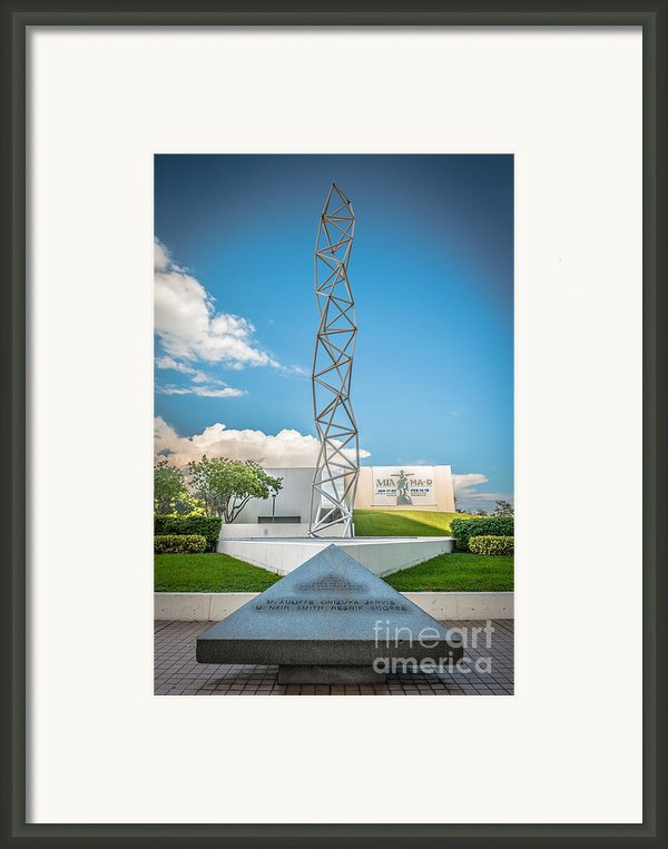 The Challenger Memorial 2 - Bayfront Park - Miami Framed Print By Ian Monk