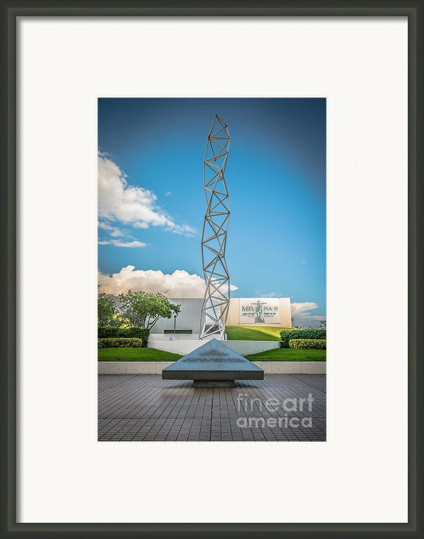 The Challenger Memorial - Bayfront Park - Miami - Hdr Style Framed Print By Ian Monk