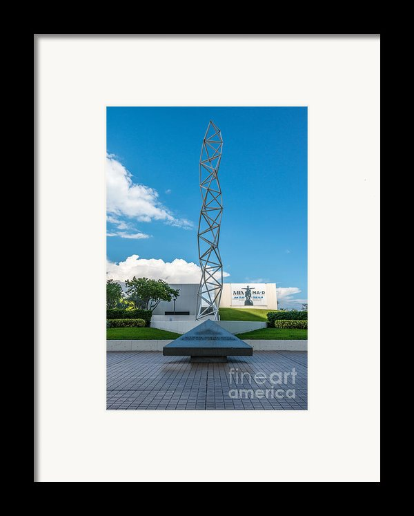 The Challenger Memorial - Bayfront Park - Miami Framed Print By Ian Monk