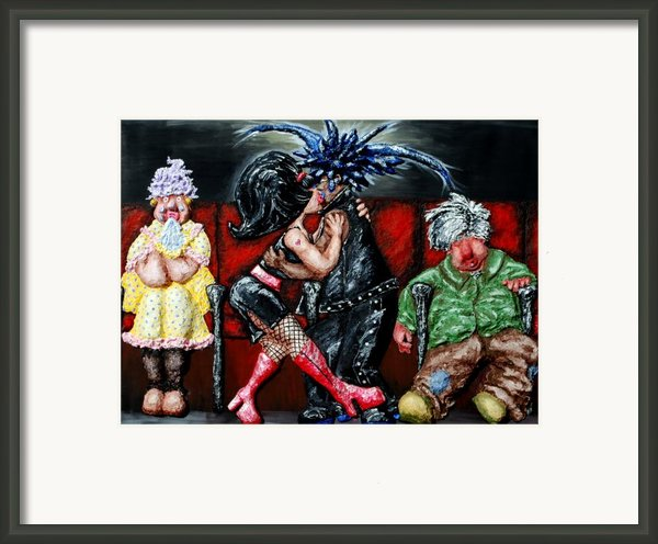 The Chaperones At The Movies Framed Print By Alison  Galvan