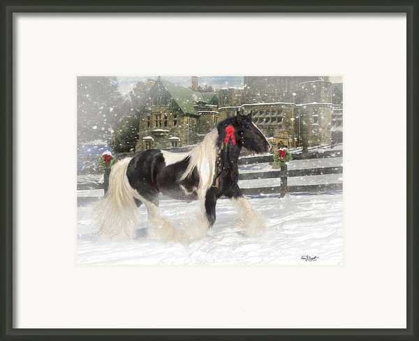 The Christmas Pony Framed Print By Fran J Scott
