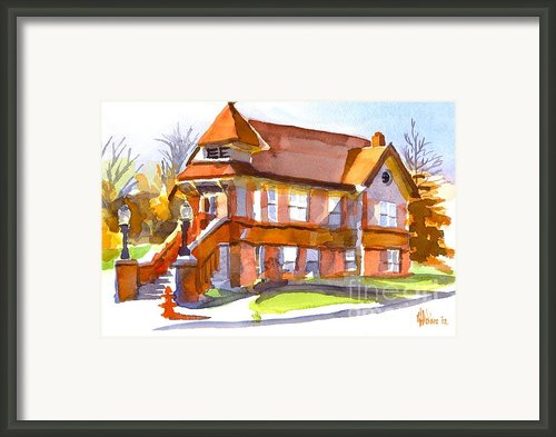 The Church On Shepherd Street 3 Framed Print By Kip Devore