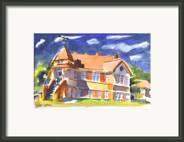 The Church On Shepherd Street Ii Framed Print By Kip Devore