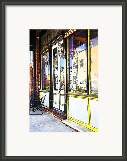 The Coffee Shop Framed Print By Jim  Calarese