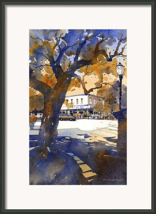The College Street Oak Framed Print By Iain Stewart