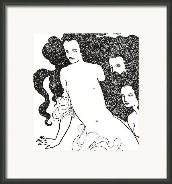The Comedy Of The Rhinegold Framed Print By Aubrey Beardsley