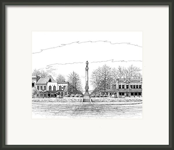 The Confederate Monument Framed Print By Janet King
