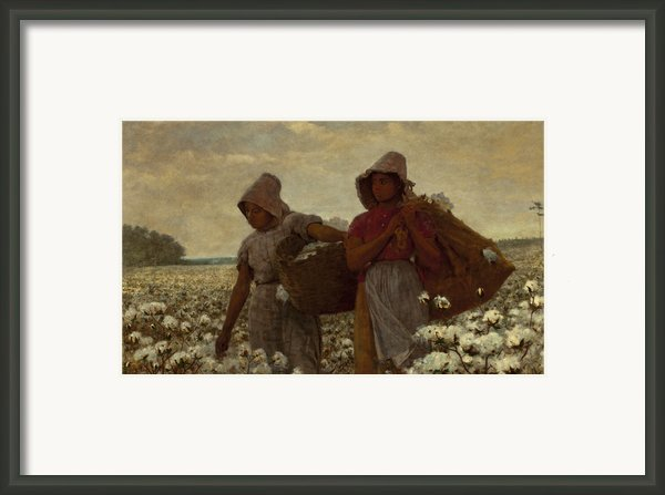 The Cotton Pickers Framed Print By Winslow Homer