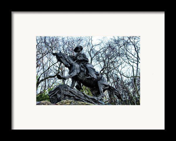 The Cowboy Framed Print By Bill Cannon