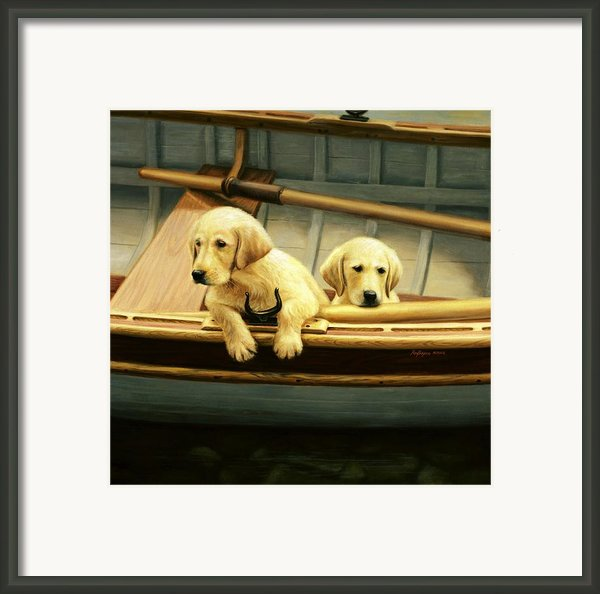 The Crew Framed Print By Ronald Bayens