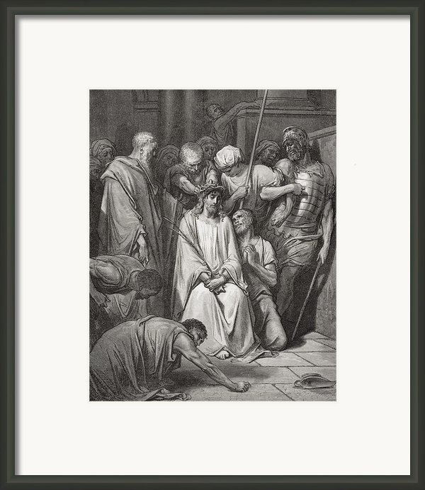 The Crown Of Thorns Framed Print By Gustave Dore
