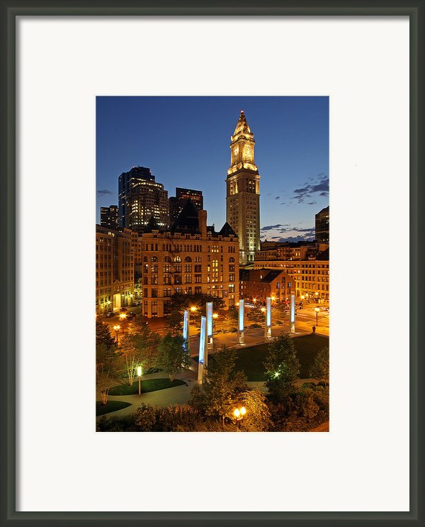 The Custom House Of Boston Framed Print By Juergen Roth