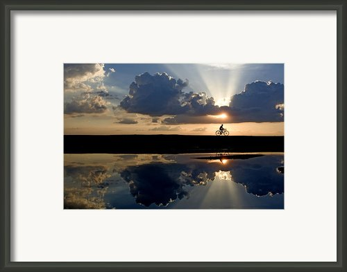The Cyclist Framed Print By Partha Pal