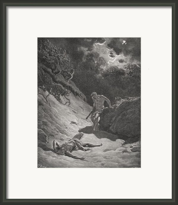 The Death Of Abel Framed Print By Gustave Dore