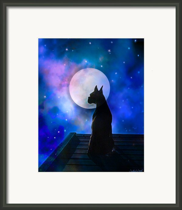 The Dock At The Edge Of The Universe Framed Print By Judy Wood