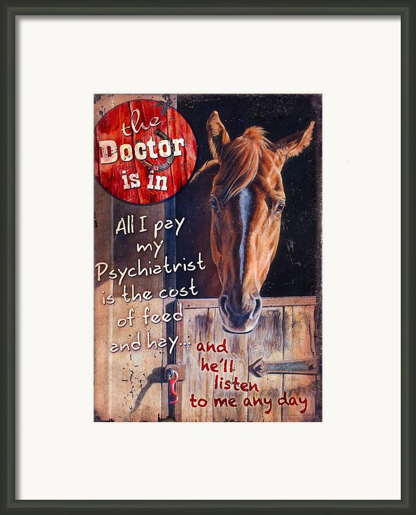 The Doctor Is In Framed Print By Jq Licensing
