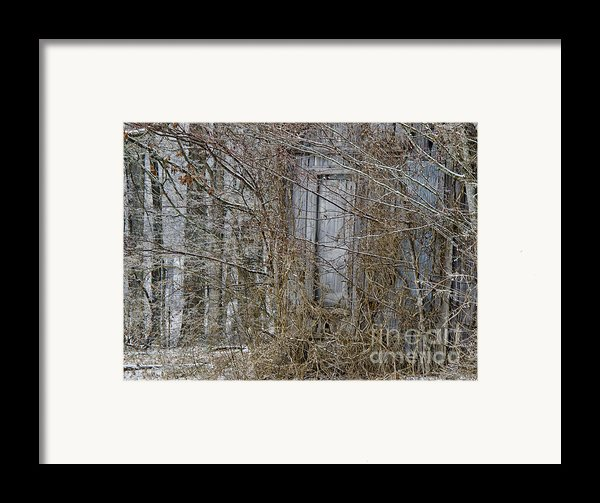 The Door To The Past Framed Print By Wilma  Birdwell