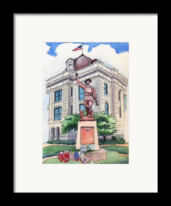 The Doughboy Statue Framed Print By Katherine Miller