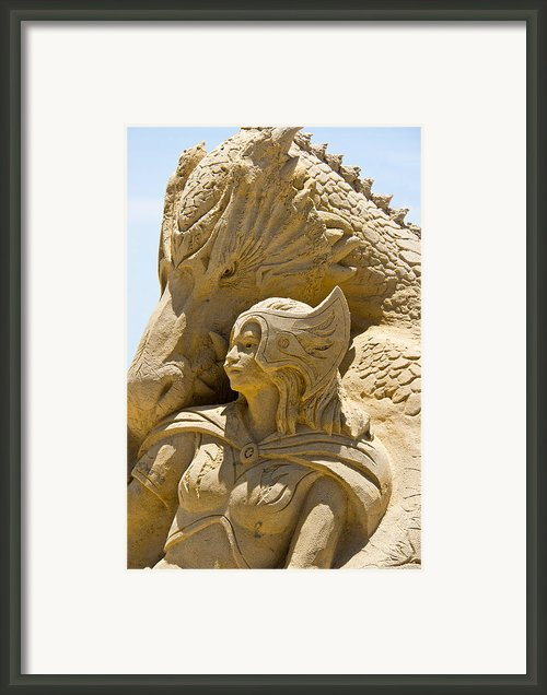 The Dragon And The Goddess Framed Print By Tom Gari Gallery-three-photography