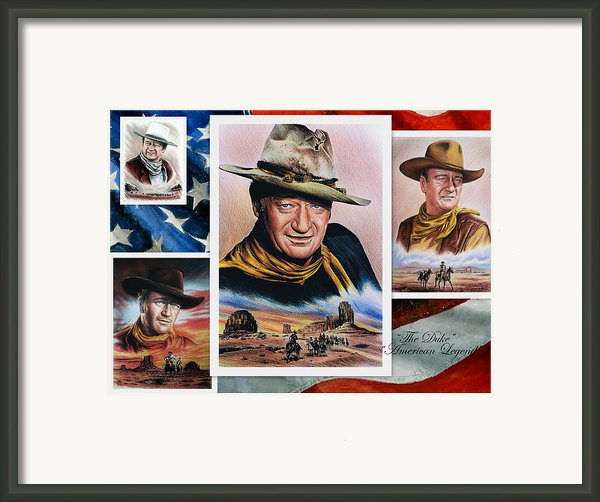 The Duke American Legend Framed Print By Andrew Read
