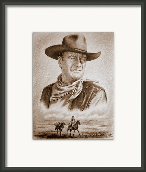 The Duke Captured Sepia Grain Framed Print By Andrew Read