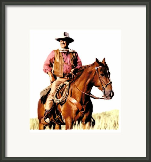 The Duke  John Wayne Framed Print By Iconic Images Art Gallery David Pucciarelli