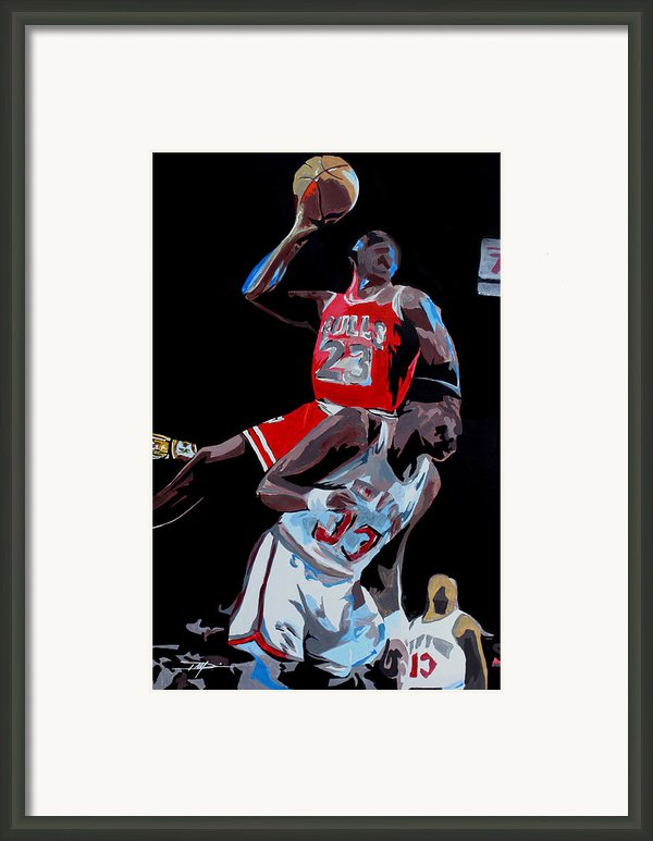 The Dunk Framed Print By Don Medina