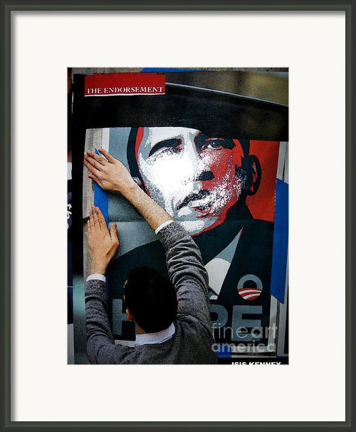 The Endorsement Framed Print By Isis Kenney