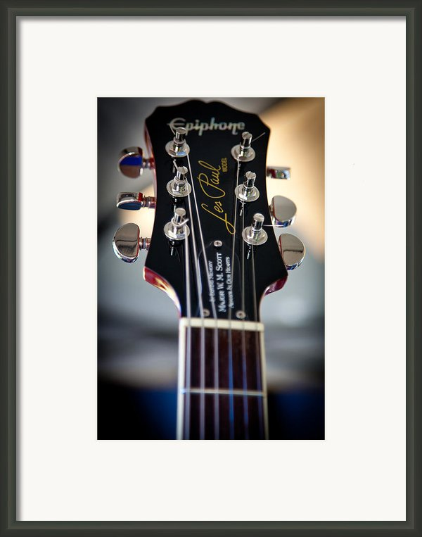 The Epiphone Les Paul Guitar Framed Print By David Patterson